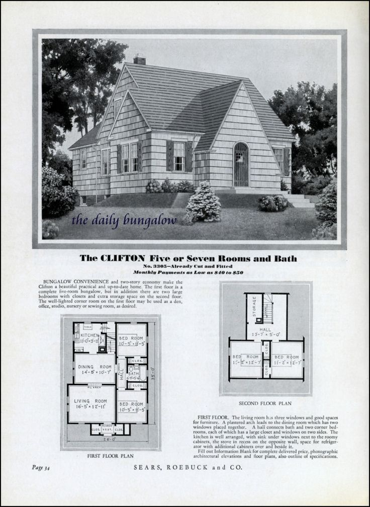 homes of today sears kit houses 1932 flickr photo sharing retro house plans pinterest. Black Bedroom Furniture Sets. Home Design Ideas