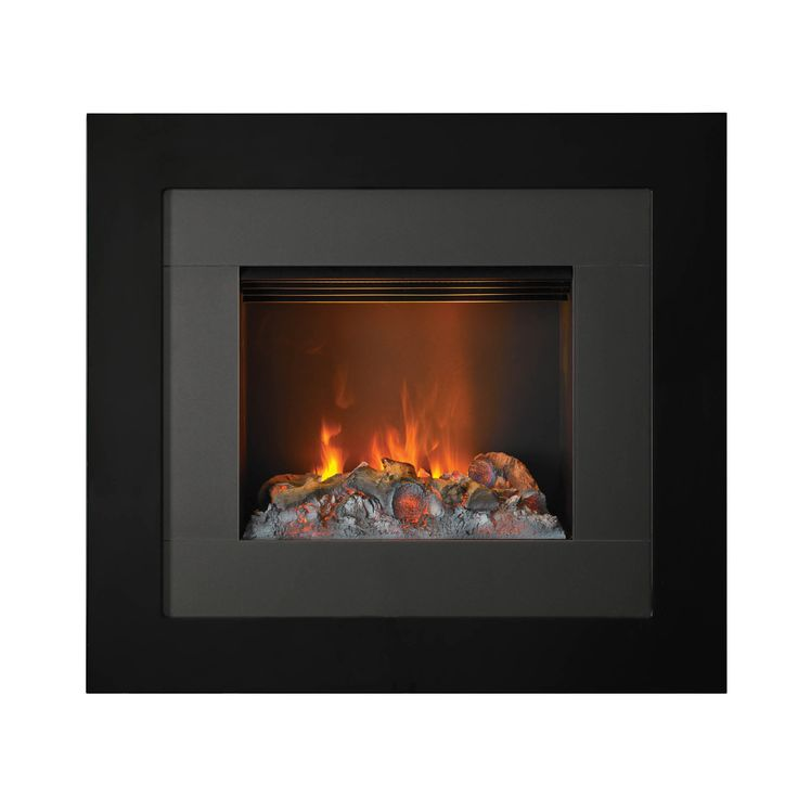 The Redway 2kW Optimyst Wall-Mounted Electric Fire features the ultra-realistic Optimyst flame & smoke effect in a black finish with anthracite. Art in flames for your wall!