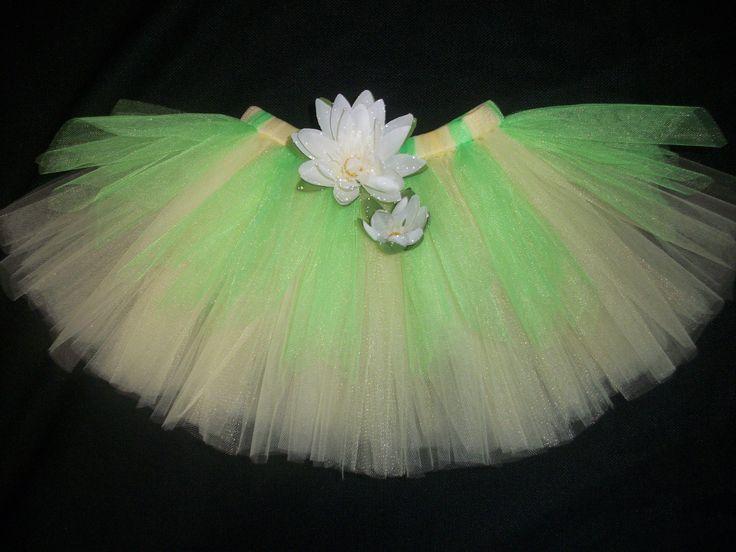 Princess Tiana tutu, the princess and the frog inspired tutu custom made sizes Newborn-4t. $26.00, via Etsy.