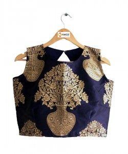 Latest Designer jacquard Blouse(Semi-Stitched).. http://www.kmozi.com/designer-blouse/designer-saree-blouse/latest-designer-jacquard-blouse-semi-stitched-911