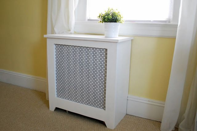 build a cabinet to hide the box fan similar to a radiator