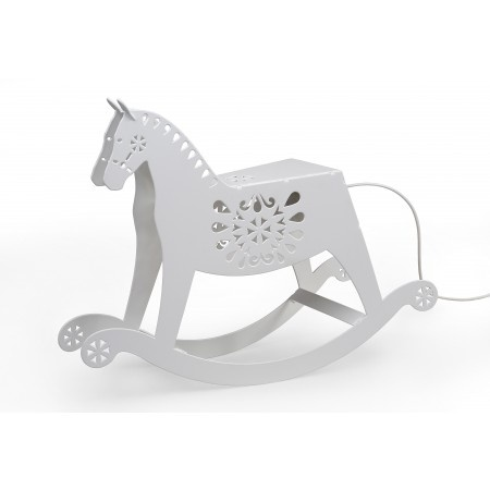 Add some fairytale touch to your interiors with this absolutely adorable and unique lamp. They say every child should have one rocking horse. Did you? Now is your chance to own one. An increased popularity in a folk aesthetic was an inspiration to design this lovely piece. Ideal for children's bedroom, but equally liked by adults.
