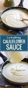 Creamy Cauliflower Sauce - a healthy version of an Alfredo or cream sauce recipe. EXTREMELY popular - 4.8 stars from 150 reviews! | pinchofyum.com