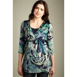 Maternal America Charmuese Nursing Blouse. Perfect for any occasion! And it's $79.00!
