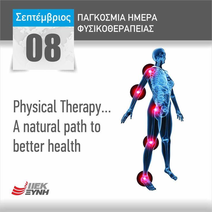 """Physical Therapy... A natural path to better health""  #TakeTheFirstStep  Για μια επιτυχημένη καριέρα στο χώρο των επαγγελμάτων Υγείας, ξεκίνα σπουδές στο ΙΕΚ ΞΥΝΗ!  #health #education #σπουδές #εκπαίδευση #InternationalDay #Physiotherapy #Φυσικοθεραπεία #ΠαγκόσμιαΗμέρα"