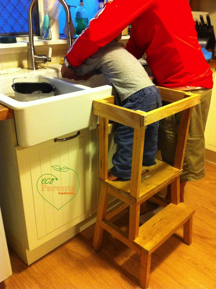 Kitchen Step Stool Mini Pendants For An Ikea Is Easy To Convert A Helper, And ...