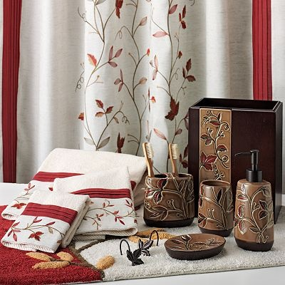 use trm on a towel to create tie backs for white curtains went to kohls and this isnt white - Bathroom Accessories Kohl S