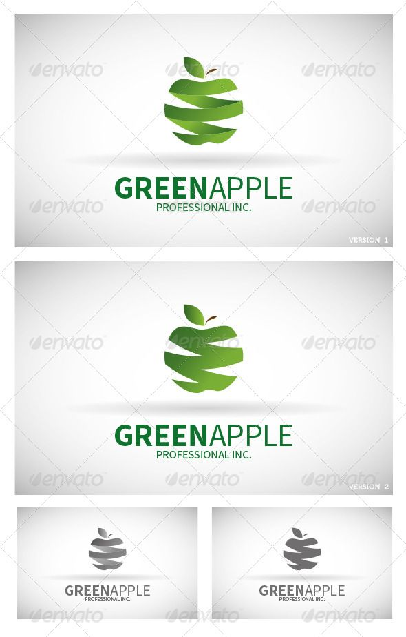 Logo Green Apple - Logo Design Template Vector #logotype Download it here: http://graphicriver.net/item/logo-green-apple/6190425?s_rank=785?ref=nexion