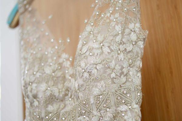 liancarlo wedding dress gown details gems crystals illusion neckline lace