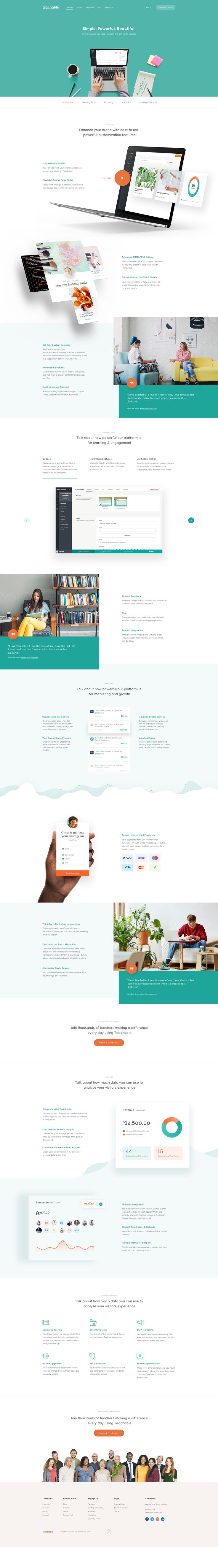 Teachable Features - Ui design concept by Balkan Brothers.