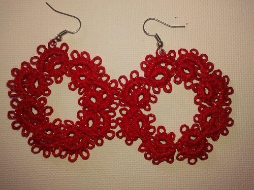 """orecchini """"Cerchio rosso"""""""