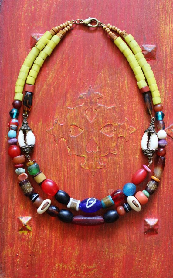 Exhibition Shell Necklace : Unique african beads ideas on pinterest