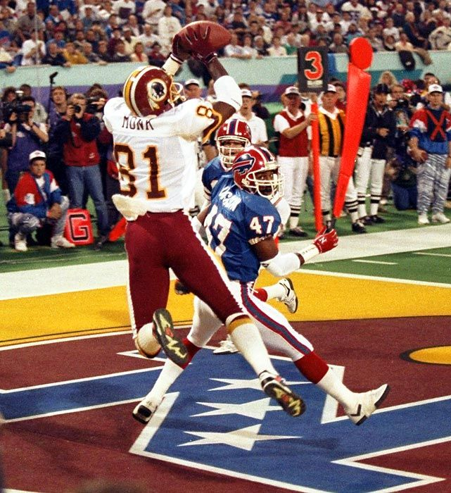 Redskins WR Art Monk in Super Bowl XXVI against the Buffalo Bills on Jan. 26, 1992