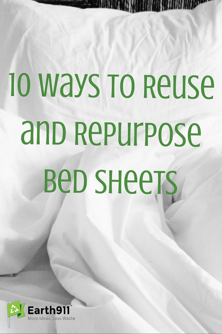 10 ways to reuse bed sheets. I love the ideas on this list. I have several sets of sheets that just sit in the back of my closet. I'll have to get them out so that I can reuse them!