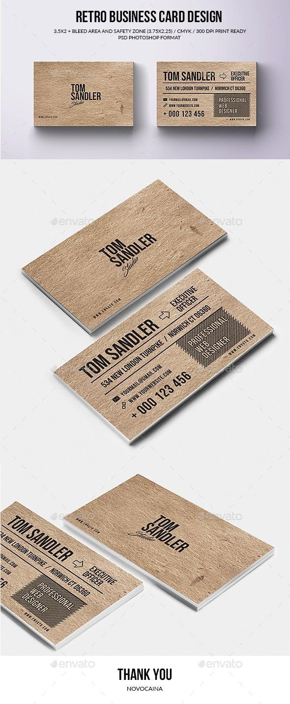 Retro Business Card Design Retro Business Card Design Retro Business Card Business Cards Creative Templates