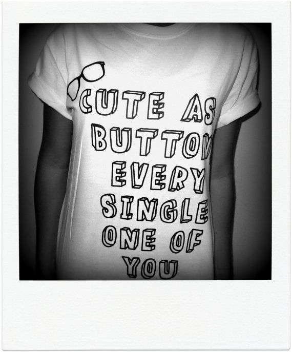Cute As A Button Shirt - Harry Styles, Marcel, One Direction, 1D on Etsy, $16.00