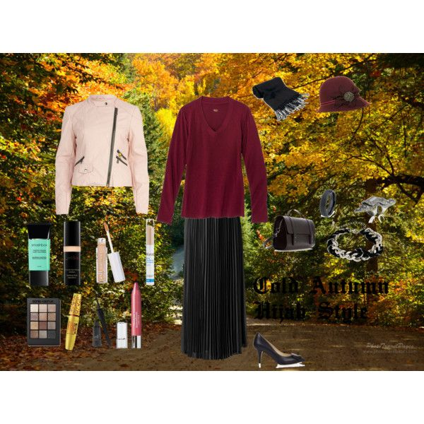 """""""Cold Autumn Hijab Style"""" by fabsmusician on Polyvore"""