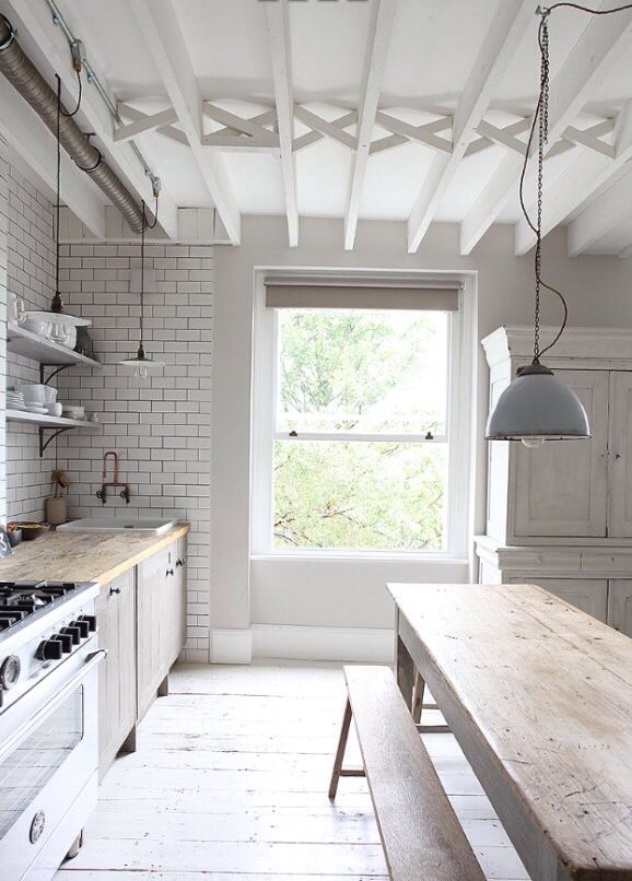 Rustic And White Kitchen