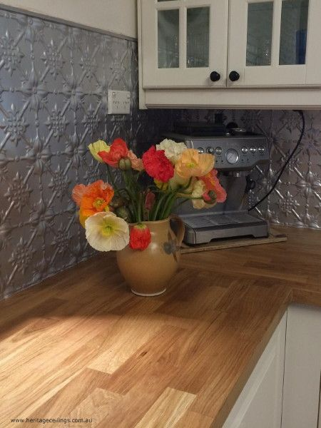 65 best kitchen splashbacks design images on pinterest cabinet pressed tin design for splashback this is the fleur design economical product that can kitchen solutioingenieria Gallery