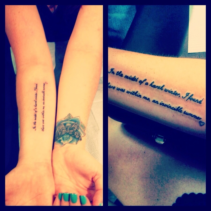"""Tattoo Quotes Poetry: """"in The Midst Of A Harsh Winter, I Found There Was Within"""