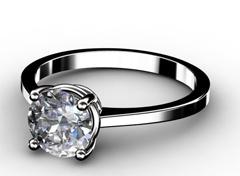 Diamant Verlobungsring Klassik, 750er Weißgold 18 Karat