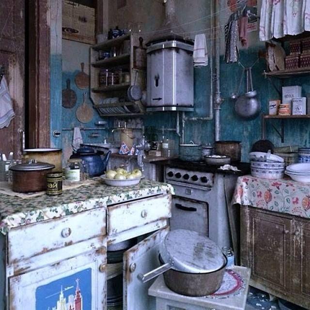 old style communal kitchen