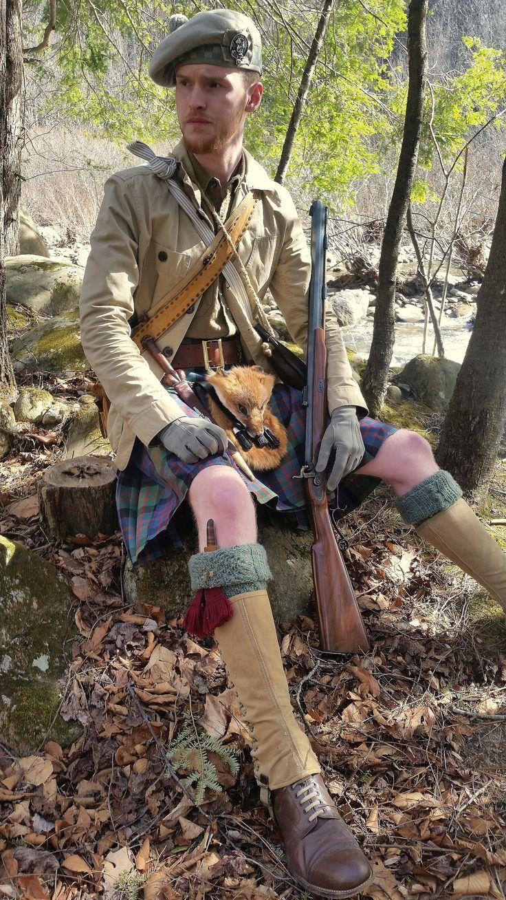 Taking a break. (Vintageinspired Scottish hunting