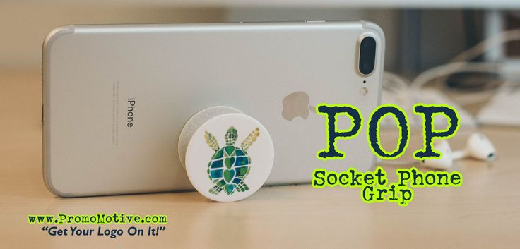 Make phone conferences easier with custom pop sockets swag!