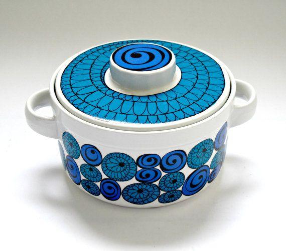 Kirsten Dekor for Figgjo Flint Scandinavian Mid Century Casserole Pot - Made in Norway, Saturn Design