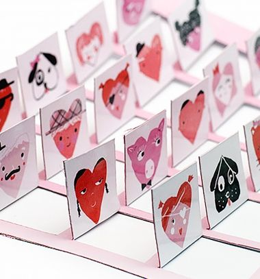DIY printable Valentine's day game - Guess Who // Valentin napi nyomtatható Guess Who társasjáték // Mindy - craft tutorial collection