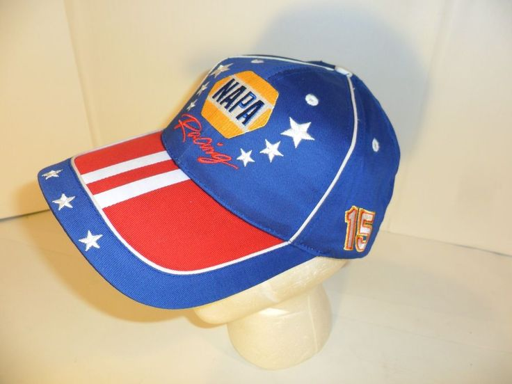 NEW Dale Earnhardt # 15 Cap Hat NAPA Racing USA Red, White & Blue Snap Back COOL #Napa #EarnhardtNapaRacing
