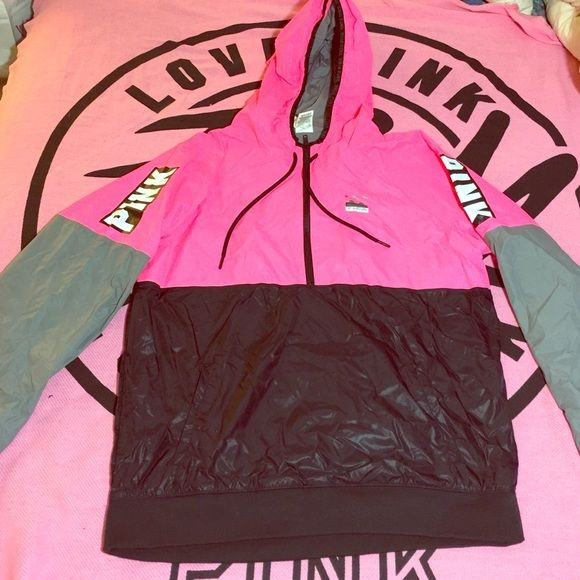 VS PINK MD-LG anorak windbreaker jacket NWT ❤️ RARE Victoria secret pink anorak windbreaker jacket brand new with tags size medium-large this is a must have !! Ships fast ships today❤️ PINK Victoria's Secret Jackets & Coats