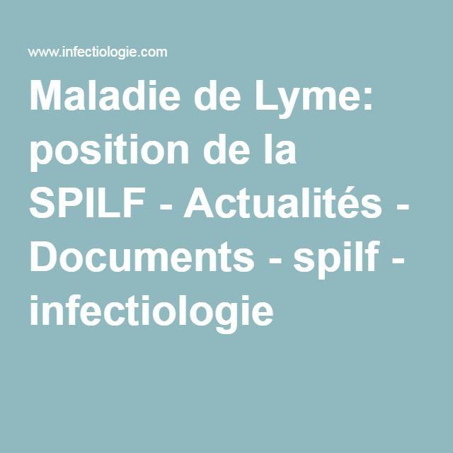 Maladie de Lyme: position de la SPILF - Actualités - Documents - spilf - infectiologie