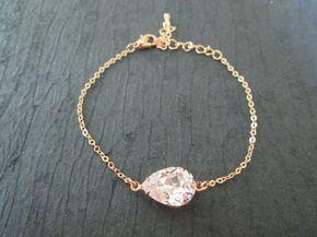 CONJUNTO de 345 6 Swarovski oro rosa pulsera cristal por KVEdesigns
