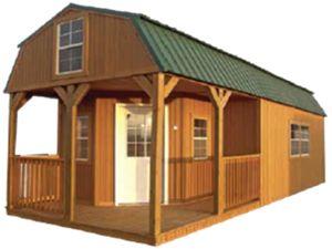 Wraparound Lofted Barn Cabin Graceland Portable