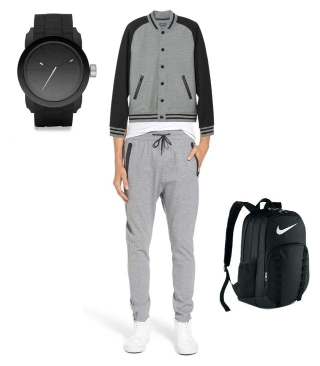"""uomini"" by giuliamarciano ❤ liked on Polyvore featuring Zanerobe, L.L.Bean, Diesel, NIKE, men's fashion and menswear"