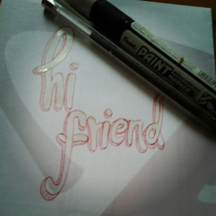 Lettering type time friend