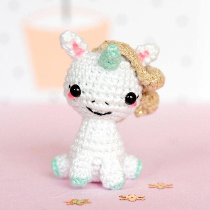 Amigurumi unicorn plush, Unicorn crochet, Unicorn amigurumi, Stuffed unicorn toy, Kawaii unicorn stuffed animal, Mini unicorn figurine by SoCroch on Etsy https://www.etsy.com/listing/269954020/amigurumi-unicorn-plush-unicorn-crochet