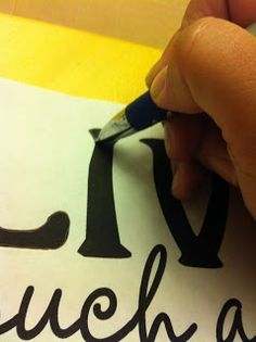 Painting Lettering - how to transfer any font onto your canvas!