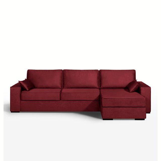 Canapé d'angle lit, couchage express, microfibre,