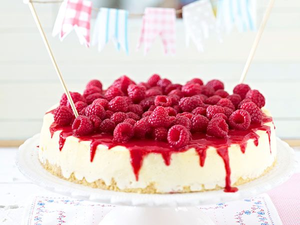 New York Cheesecake mit Himbeeren