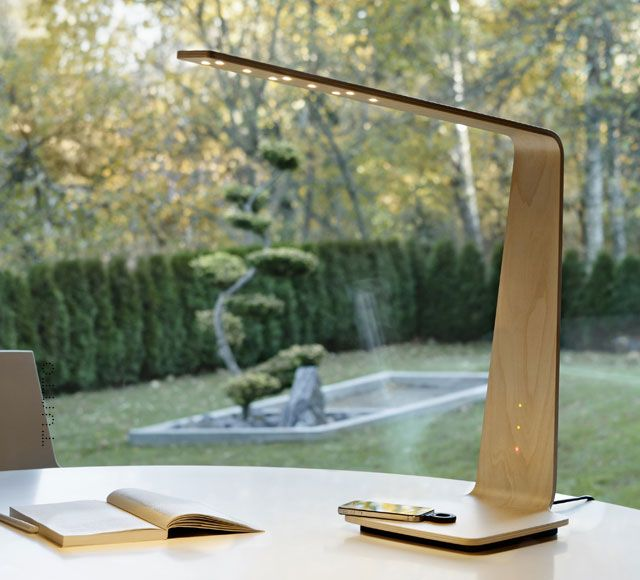 LED8 is an ideal lamp for any modern interior, from offices and homes to hotels and lounge environments. It is especially functional as a desk lamp, providing superb lighting for working purposes.  LED8 is available with the groundbreaking Qi Wireless Charging technology, which enables the lamp's surface to be used for charging mobile devices wirelessly