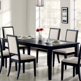 Coaster Fine Furniture Louise Black Rectangular Dining Table from Lowes