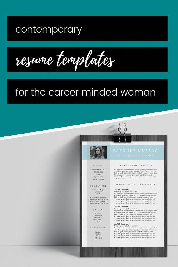 Creating An Eye Catching Resume Is Simple When You Start With A Professional Template Let Your Personality Shine Through This Modern Photo