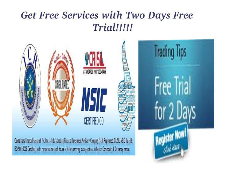 Capital Stars Give You Best Commodity Tips With 2 Days  Free Trial in all segment Of commodity...  Get Free Trading Tips Like Gold, Silver, Aluminium, Zinc, Copper, Nickel, Crude,  Natural Gas....  We gives Best Commodity Tips  and profitable trading tips with two days free trial for the clients and we fulfill all the needs of our client so please come and check our previous performance, our services are best so please join my company.