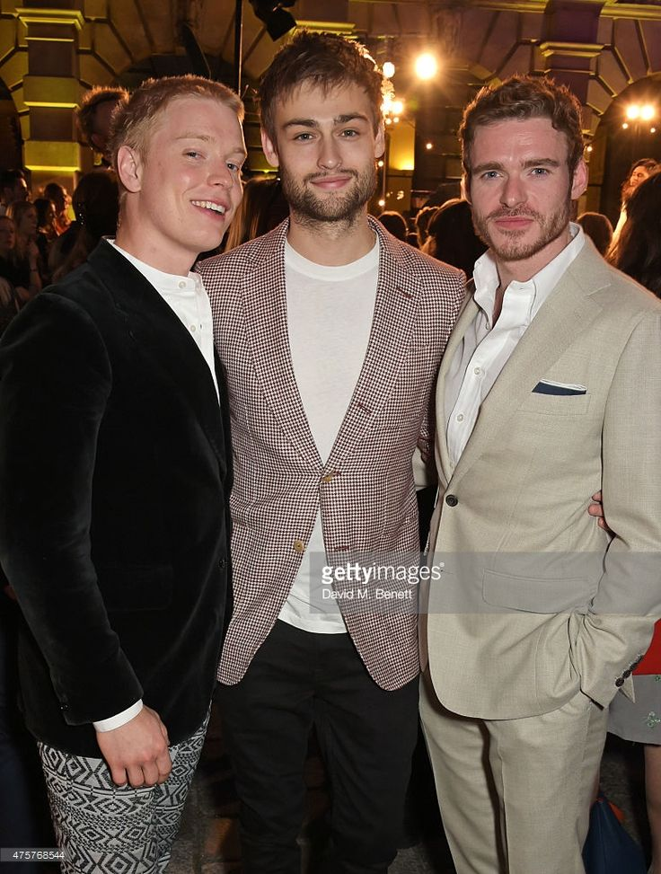 Freddie Fox, Douglas Booth and Richard Madden attend the Royal Academy of Arts Summer Exhibition preview party at the Royal Academy of Arts on June 3, 2015 in London, England.