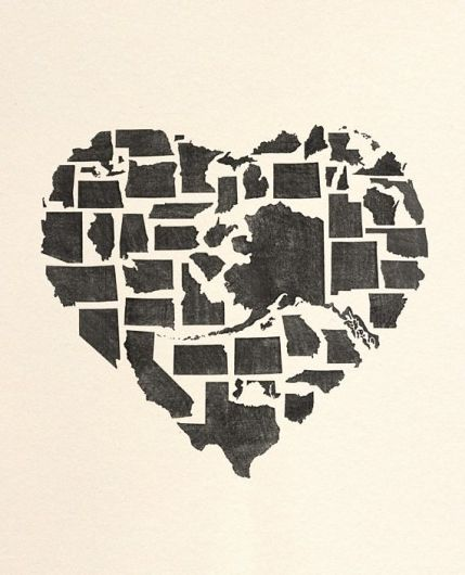 United States of America Hearts
