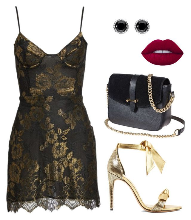 """""""Outfit for Night!  ♥ / Look patricinha / Look balada ♥ / Look para noite"""" by camibg on Polyvore featuring Alexandre Birman, For Love & Lemons, Thomas Sabo and Lime Crime"""