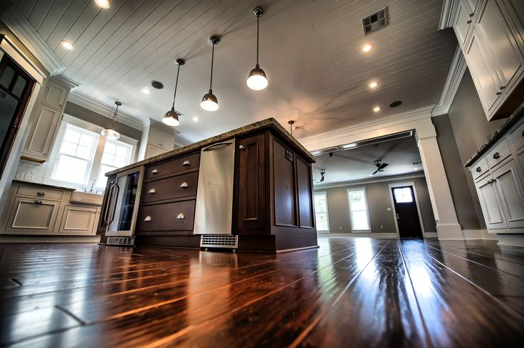 Eat In Kitchen With Tongue And Groove Ceiling Hickory
