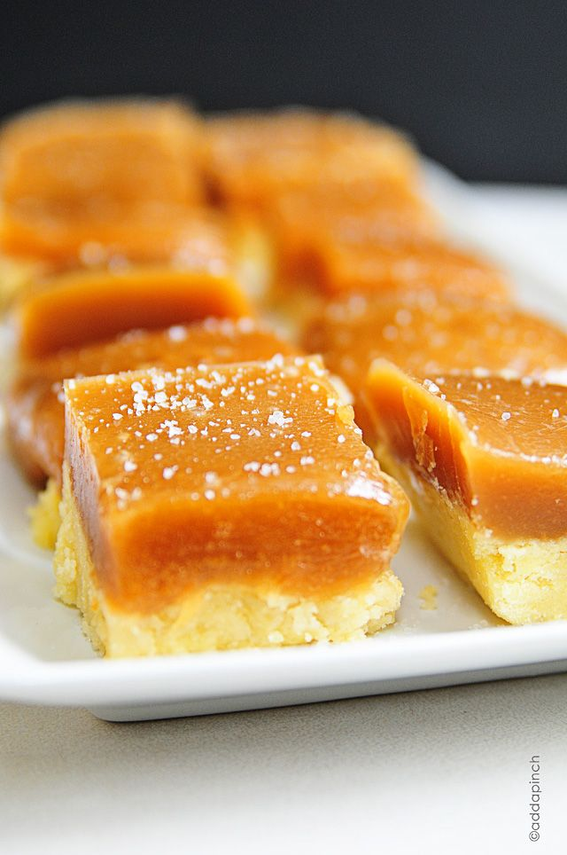 Salted Caramel Bars make a great addition to any dessert buffet. Homemade salted caramel on a shortbread crust.